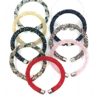 10 x Sparkle dust cuff bracelet kit -mixed colours collection 02